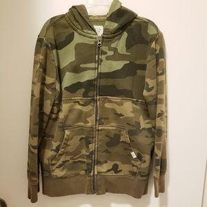 GAP kids camouflage hoodie size 8